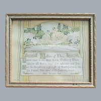 Mother Motto 1920s Colonial Ladies Art Deco