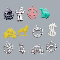 12 Vintage Plastic Toy Gumball Prizes