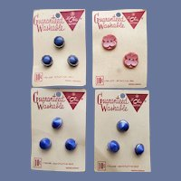1940s Glass Sewing Buttons Western Germany