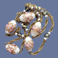 Wedding Cake Venetian Bead Necklace Murano Class
