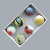 Classic Marbles Six Vintage Variety of Colors One Price.