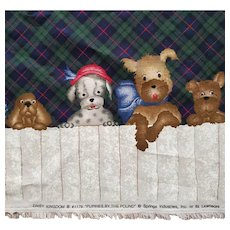 Daisy Kingdom Puppies by the Pound Fabric