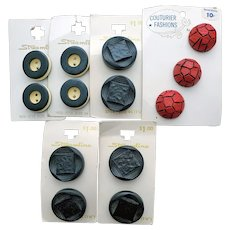 1950s - 1960s Vintage Sewing Buttons Original Cards