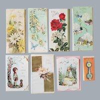 8 Fancy Vintage Greeting Cards 1960s Unused
