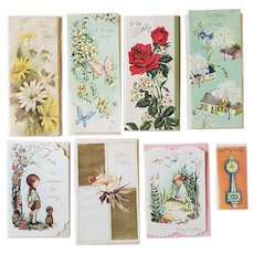 8 Vintage Greeting Cards 1960s Unused