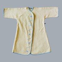 1950s Baby Kimono Jacket Infant Size in Yellow