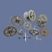 Vintage Brass Watch Clock Parts Gears Springs Steampunk