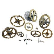 Vintage Brass Watch Clock Parts Gears Springs Steampunk