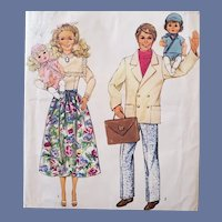 Vintage Doll Family Clothing Sewing Pattern