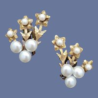 Gorgeous Faux Pearl Clip Earrings