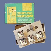 1940s Chrome Cabinet Drawer Pulls MIB