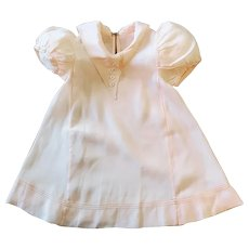 1930s Pink Silk Baby or Doll Dress Exquisite