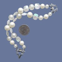 Faux Pearl Lucite Bead Bracelet Marvella