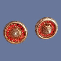 Sterling Earrings with Rhinestone Mexican Sombrero