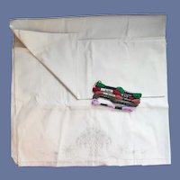 Pillowcase Tubing With Transfer and Embroidery Thread