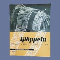 Antique Bobbin Lace Pattern Book in German