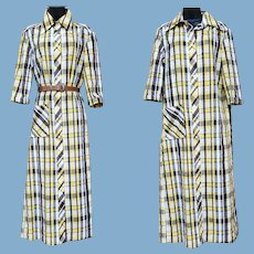 1950s - 1960s Casual Dress Size Medium - Large