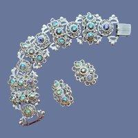 Rhinestone Bracelet with Earrings Aurora Flash