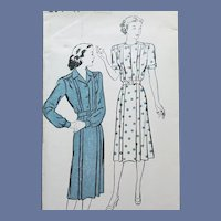 1940s Dress Sewing Pattern Bust 50 Uncut Rare Size