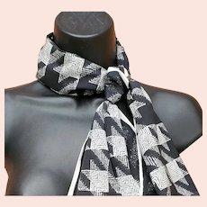 Vera Neumann Scarf Black and White Tweed Print