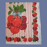 Vintage Linen Kitchen Towel BEETS by Malamorino