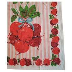 Vintage Linen Kitchen Towel BEETS by Malamorino