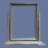 1920s-1930s Tilt Picture Frame Wood Swing Table Style