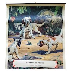 Purina Chows Advertising Calendar 1941 with Dogs Unused