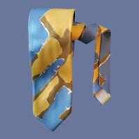 Abstract Silk Necktie Vera Neumann Hard to Find