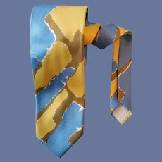 Abstract Silk Necktie Vera Neumann Hard to Find