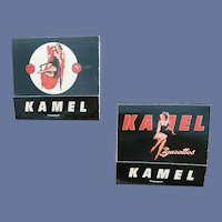Pinup Matchbooks Kamel Cigarettes Mint