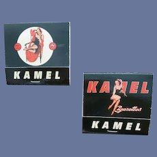 Pinup Matchbooks Kamel Cigarettes Mint