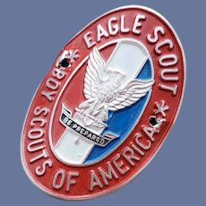 BSA Eagle Scout Walking Hiking Stick Medallion