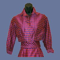 Silk Blend Suit Bolero Jacket Sassy Sash Extra Small