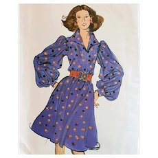 Big Bloused Sleeve Dress Easy Vogue Sewing Pattern Bust 34