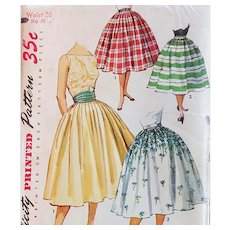 1950s Bombshell Skirt Sewing Pattern Waist 26