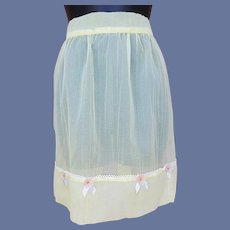 1960s Hostess Apron Fancy Decoration Sm-Md