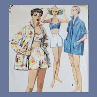 1950s Sewing Pattern 3 Piece Play Set Size Extra Small