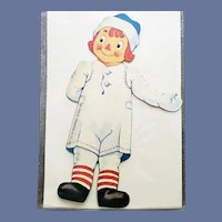 Raggedy Andy Paper Doll 1995 by Shackman MIP