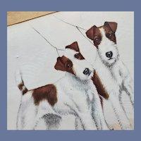 Vintage 1920s - 1930s Fox Terrier Print Leon Danchin