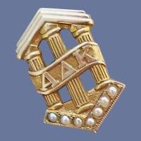 10k Yellow Gold Alpha Delta Kappa Sorority Pin