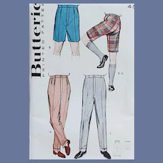 Mens Pants or Bermuda Shorts Sewing Pattern Waist 32