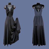 Vintage Olga Nightgown Black Beauty Size Medium
