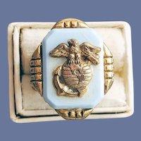 1950s Child's Toy Ring Marines Premium Gum Ball