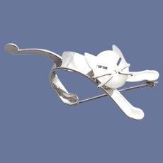 MCM Cat Brooch Moving Head Beau Sterling
