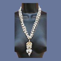 Hattie Carnegie Chandelier Necklace Unworn with Tag