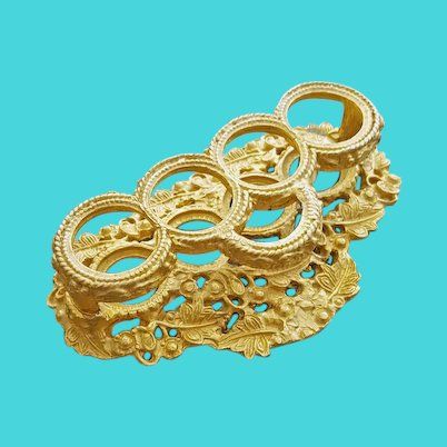 Ornate Lipstick Holder Gold Metallic Vanity Item