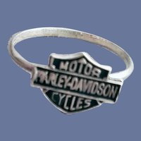 .925 Harley Davidson Motorcycles Ring Sterling Silver
