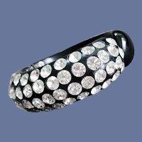 Black Thermoplastic Rhinestone Clamper Bracelet