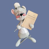 Nurse Doll Annalee Mouse with Thermometer 1971
